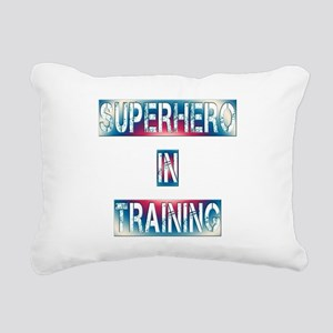 Superhero in Training Rectangular Canvas Pillow