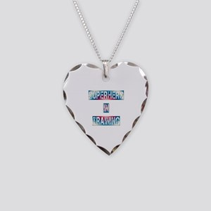 Superhero in Training Necklace Heart Charm