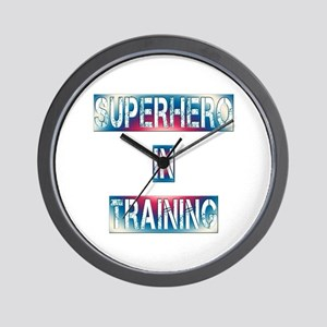 Superhero in Training Wall Clock