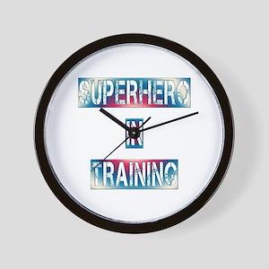 Superhero in Training Wall Clock