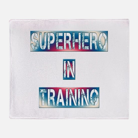 Superhero in Training Throw Blanket