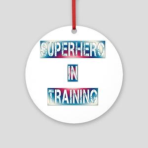 Superhero in Training Round Ornament