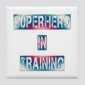 Superhero in Training Tile Coaster