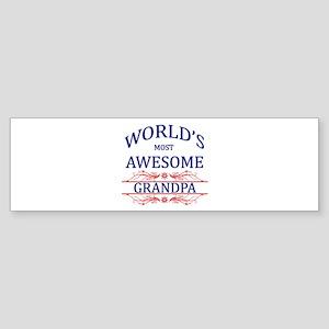 World's Most Awesome Grandpa Sticker (Bumper)