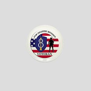 8th Infantry Division Mini Button