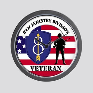 8th Infantry Division Wall Clock