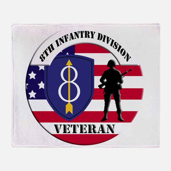 8th Infantry Division Throw Blanket