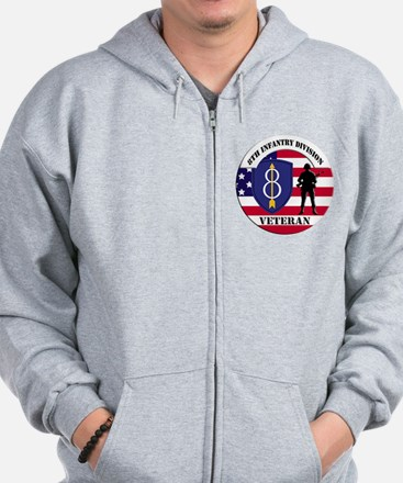 8th Infantry Division Zip Hoodie