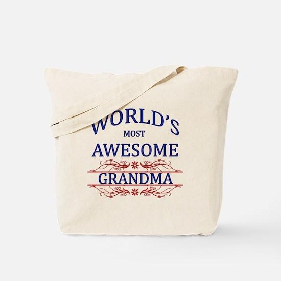World's Most Awesome Grandma Tote Bag