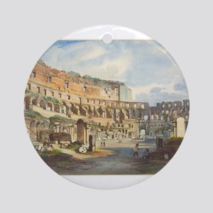 Ippolito Caffi - Interior of the Colosseum Ornamen