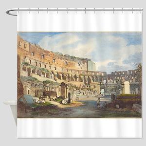 Ippolito Caffi - Interior of the Colosseum Shower