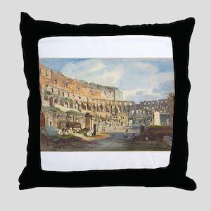 Ippolito Caffi - Interior of the Colosseum Throw P