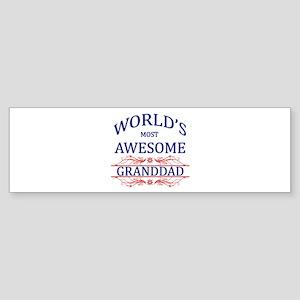 World's Most Awesome Granddad Sticker (Bumper)