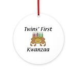 Twins First Kwanzaa Ornament (Round)