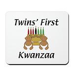 Twins First Kwanzaa Mousepad