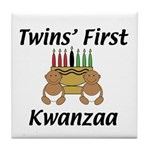 Twins First Kwanzaa Tile Coaster