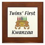 Twins First Kwanzaa Framed Tile