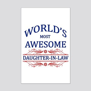 World's Most Awesome Daughter-in-Law Mini Poster P