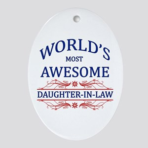 World's Most Awesome Daughter-in-Law Ornament (Ova