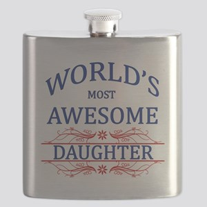 World's Most Awesome Daughter Flask