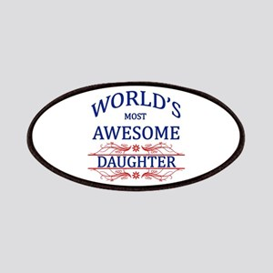 World's Most Awesome Daughter Patches