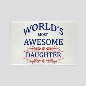 World's Most Awesome Daughter Rectangle Magnet