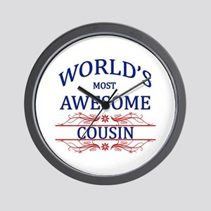 World's Most Awesome Cousin Wall Clock