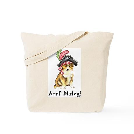 Sheltie Pirate Tote Bag