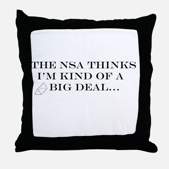 The NSA Thinks I'm Kind of a Big Deal Throw Pillow