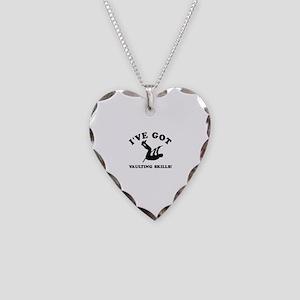 I've got Vaulting skills Necklace Heart Charm
