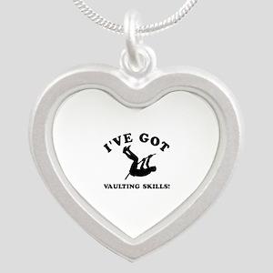 I've got Vaulting skills Silver Heart Necklace