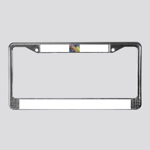 Music, colorful art License Plate Frame