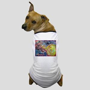 Music, colorful art Dog T-Shirt