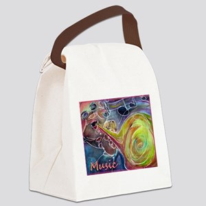 Music, colorful art Canvas Lunch Bag
