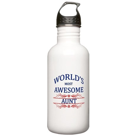 World's Most Awesome Aunt Stainless Water Bottle 1