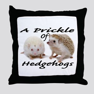 Prickle of Hedgehogs Throw Pillow