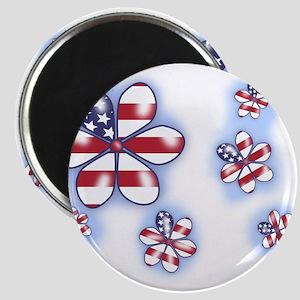 USA Flowers (sc) Magnet