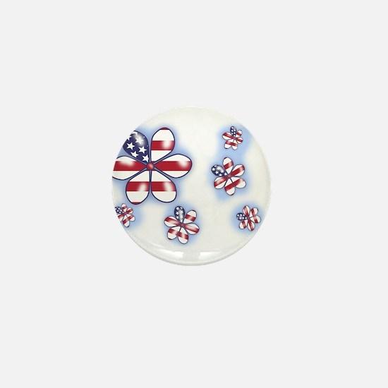 USA Flowers (sc) Mini Button