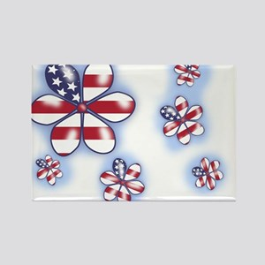 USA Flowers (sc) Rectangle Magnet