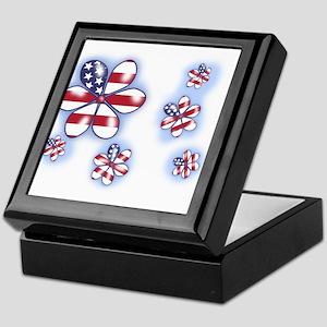USA Flowers (sc) Keepsake Box