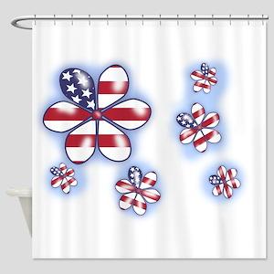 USA Flowers (sc) Shower Curtain