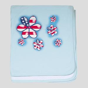USA Flowers (sc) baby blanket