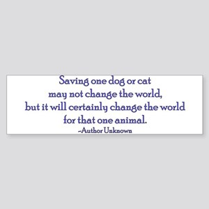 Save a Life, Change the World Text Bumper Sticker