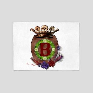 Royal B Crest 5'x7'Area Rug