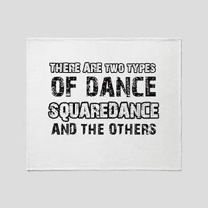 Squaredance designs Throw Blanket