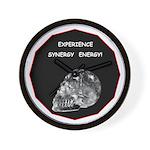 Crystal Skull Synergy Wall Clock