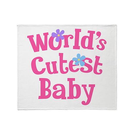 World's Cutest Baby Throw Blanket