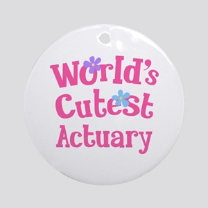 World's Cutest Actuary Ornament (Round)