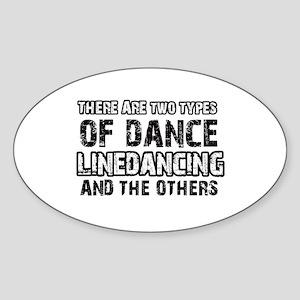Linedancing designs Sticker (Oval)