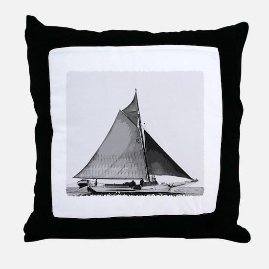 Chesapeake Bay Skipjack Oyster Boat Throw Pillow
